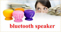 Wholesale Wireless Bluetooth Mini Speakers Mushroom Waterproof Silicon Suction Cup Handfree MIC Voice Box for mobile iphone s note ipad air
