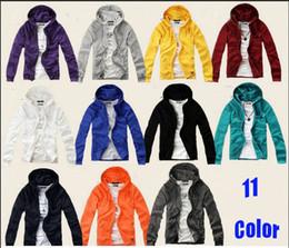 Wholesale New Men s Slim Fit Long Sleeves Hoodies Sweaters Men s Candy color lovers Hoodies Sweatshirts colors
