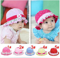 Wholesale hot new baby a flower hats girls boys sun hats kids lovely caps children leisure caps colors