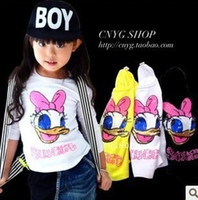 Wholesale 5pcs Children girl s Autumn paillette baby duck long sleeve T shirt kg
