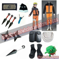Wholesale Apparel Naruto Shippuden Uzumaki nd Men s Cosplay Costume set for cosplay and halloween