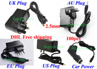 Wholesale High Quality Universal mm Power Adapter AC Charger V A for Android Tablet PC UK AU EU US Car charger DHL