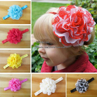 Wholesale Fashion Princess Headbands Hair Things Childrens Accessories Kids Girls Cute Multicolour Flower Headbands Baby Hair Accessories Hair Flowers