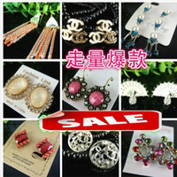 Wholesale Fashion earrings charm Dangle Chandelier Ear Cuff Diamond pendants Earring Back Hoop Huggie Stick Stud modern jewelry Christmas mixed styles