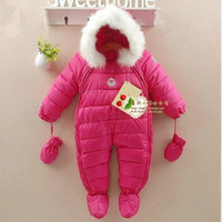 Wholesale New carters Newborn clothes brand winter baby bodysuit snowsuit thicken silk cotton rompers outerwear amp coats