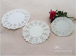 Wholesale quot quot quot White Paper Round Lace Doilies Paper Grease Proof Plate Table Pad