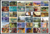 Wholesale koudai koudai vintage claude monet boxed postcards set Birthday Card Greeting Card Gift Card Fashion Gift