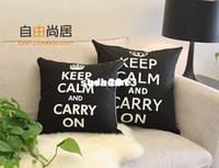 Wholesale Keep Calm Cushion Cover Cotton Sofa Cushion Cover Modern Simple Back Cushion Cover x45cm