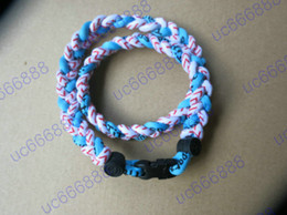 Wholesale Titanium football college sports baseball rope Tornado nylon necklaces