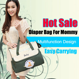 Wholesale Hot Sale Fashion Diaper Bag Baby Bag Made of Microfiber Big Capacity for Mommy Carrying