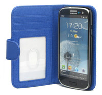Wholesale Book Style Wallet Leather Case Cover Skin Pouch Stand Holder for Samsung Galaxy S4 SIV I9500 Color