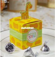 Wholesale Giraffe Elephant Monkey Tiger Animals Baby Shower Favors and Birthday Party Boxes Candy Box