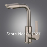 Wholesale fashion style brush nickle kitchen sink and wash basin double use tap mixer faucet body and spout degree rotatable