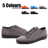 Lace-Up Men Spring and Fall Annual supply! Free shipping! Men's fashion casual shoes tide shoes Suede shoes lazy British wild winter shoes G18
