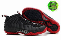 Wholesale Fast Shipping Famous Trainers Air Foamposite One Cough Drop Men s Sports Basketball Shoes black varsity red