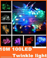 Wholesale Epacket Christmas crazy selling M LED string Decoration Light V V For Party Wedding led christmas twinkle lighting