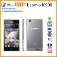 Lenovo 5.5 Android Original Lenovo K900 5.5'' 1920x1080p 2GB RAM 16GB ROM 13mp Gorilla Glass Intel Atom Dual Core Phone Android 4.2 Multi Language smart phone