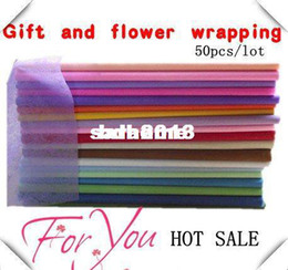 Wholesale single color tissue paper X50CM many color choices gift wrapping paper flower packing paper