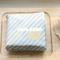 Wholesale Blue Stripe Coating Paper For Sandwich Packaging baking oil paper