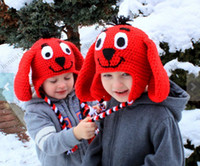 Winter big dog photos - Crochet Big Red Dog hats Brand New baby girls boys animal winter hat monkey designs beanie earflap caps animal hat photo props