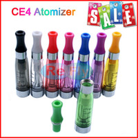 Wholesale CE4 Atomizers E cigarette CE4 Clearomizer ml Cartomizer Suit For eGo Battery Ego t Ego w EVOD No Leaking Colors refly