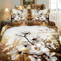 Adult Twill 100% Cotton White plum blossom wintersweet 3d queen size duvet covers comforters bedroom sets bedspreads bedding sets bedclothes bed sets