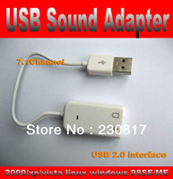 Wholesale USB Virtual Channel External Audio D Sound Card Adapter With Cable Line For computer PC Laptop