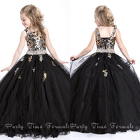 Black Dresses For Kids Pageant Dresses Black