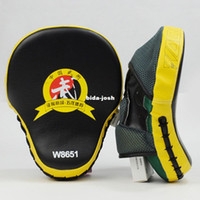 Wholesale New Muay Thai MMA Boxing Kick Punch Pads Hand Target Focus Training Mitts Yellow