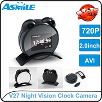 None   V27 alarm clock shape hidden camera wireless DVR alarm digital camera USB movement mini DVR mini dv DVR free shipping