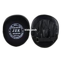 Wholesale New Black Boxing Pads Mitts Training Target Focus Punch Pads Glove MMA Karate Muay Kick Kit TK0930