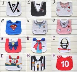 Wholesale Up Mix order EMS FEDEX to AU US UK NL gentle waterproof bib cotton towel Baby and saliva towel superman bibs SEPT235