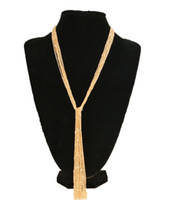 costume fashion jewelry - Fashion women silver k gold plated good alloy long tassel necklace sweater costume pendant necklace jewelry FN0142