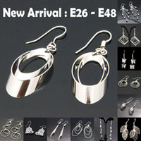 Charm South American Women's wholesale 2014 new fashion mixed order 925 Sterling Silver Dangle Earrings Wholesale 925 silver earrings