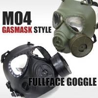 Wholesale Tactical NATO M04 Military Gas Mask Full Face Protection Goggle Black