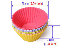 Wholesale x Round Silicone Muffin Cupcake Cake Mould Bakeware Maker Xmas Tools
