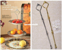 Wholesale silver Gold can choose Tier Cake Plate Stand Handle Fitting Wedding Party Crown Rod