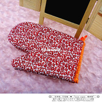 double ovens - Double faced decorative pattern insulated gloves oven special gloves microwave oven gloves