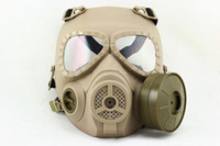 Wholesale Tactical NATO M04 Military Gas Mask Full Face Protection Goggle Tan