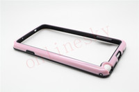 For Samsung   Luxury Aluminium Bumper Pu Case Frame Cover For Note3 N9000 Win i8552