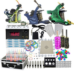 Wholesale USA Dispatch Top Tattoo Kit Machine Guns Set Equipment Power Supply Inks Tools Needles