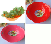 Ceramic plastic bowl wholesale - PCSColor food grade plastic creative fruit plate fruit salad utensils Serving Bowl
