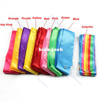 Wholesale M Dance Ribbon Gym Rhythmic Art Gymnastic Ballet Streamer Twirling Rod Colors