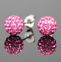 Wholesale pairs Muti colors Sparkle Round Swarovski Crystal Ball Stud Earrings for Wedding Party