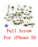 FS800800100 For Apple iPhone  Best Quality For iPhone 5S Full New Screw Set with O Ring Replacement Parts free shipping