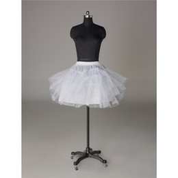 Wholesale Short Dresses Petticoats - 2016 Beautiful 3 Layers Short Ball Gown Wedding Bridal Dresses Petticoat Crinoline Underskirt for Dresses Prom Accessory