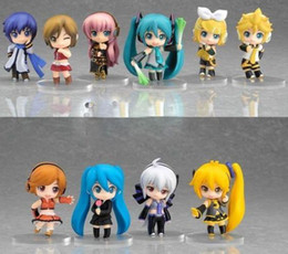 Free Shipping Hatsune Miku Anime 10pcs PVC Figures Toys Set Collection Kids Gift Hot sale