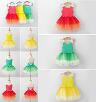 TuTu Summer A-Line Summer New Arrival Baby Girl Kids Dresses Sleeveless Hollow Tiered Veil Super Tutu Vest Dress Children Clothing 3 Color For 2-7Y 8556