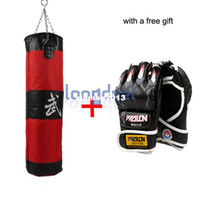 Wholesale Free Gift Lb Fitness Training Unfilled Boxing Punching Bag Punch Bag Empty With Tiger Claw Boxing Gloves