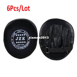 Wholesale 6Pcs New Black Boxing Pads Mitts Training Target Focus Punch Pads Glove MMA Karate Muay Kick Kit TK0930